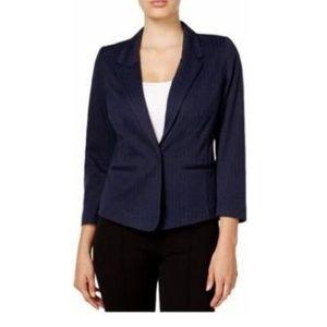 kensie Herringbone Single-Button Blazer